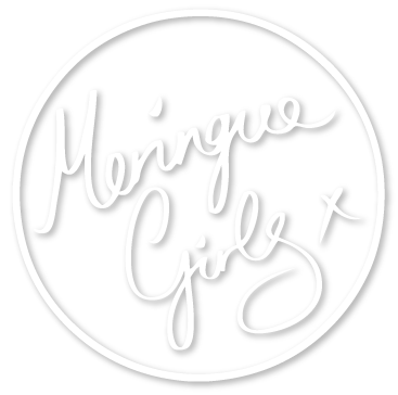 meringue girls logo white version