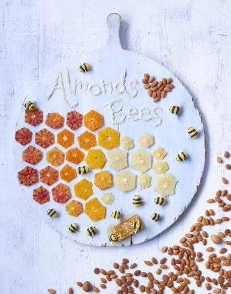 almonds bees
