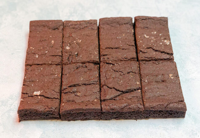 dark chocolate sea salt brownies
